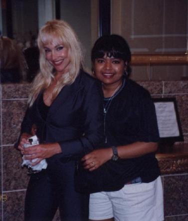 Debra with fans [4/4]